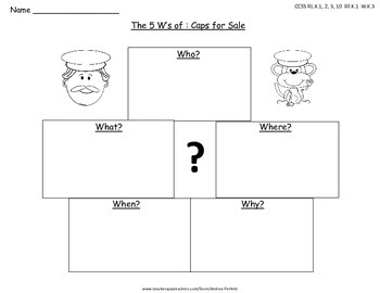 Graphic Organizers and Activities for: Caps for Sale