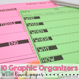 #twosunnydeals Graphic Organizers & Lined Paper with Borders