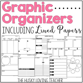 Graphic Organizers & Lined Paper with Borders