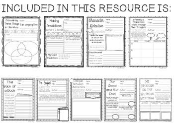 Reading Response Printables FREE Samples Set