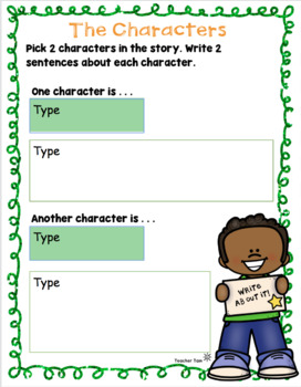 Graphic Organizers for Writing Kindergarten, First Grade, Second Grade Writing