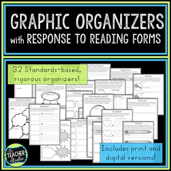 Graphic Organizers and Response to Reading Forms Print and Digital Version
