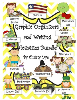 Response to Literature Graphic Organizers and Writing Activities for 12 months