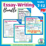 Essay Writing Bundle: Narrative, Expository, and Argumenta