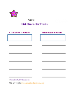 Graphic Organizers for 3rd and 4th Grade Reading Skills