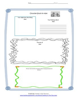 Graphic Organizers for Abel's Island