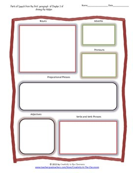 Graphic Organizers for Among the Hidden