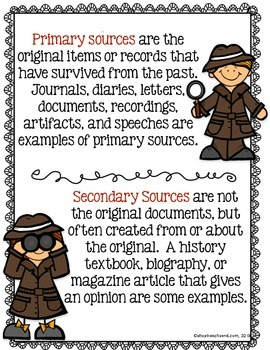 Graphic Organizers for Analyzing Primary Sources
