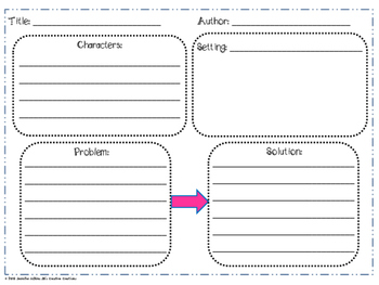 Graphic Organizers for Any Fiction Book