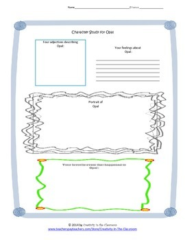 Graphic Organizers for Because of Winn Dixie