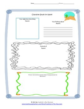 Graphic Organizers for Becoming Naomi Leon