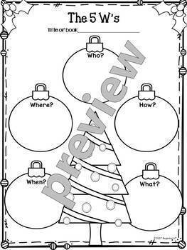 Graphic Organizers for Reading, Christmas Holidays