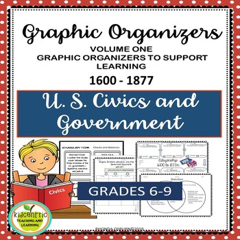 U.S. Civics and Government Graphic Organizers   Early History to 1877