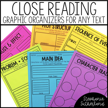 Graphic Organizers for Close Reading Skills 3-5