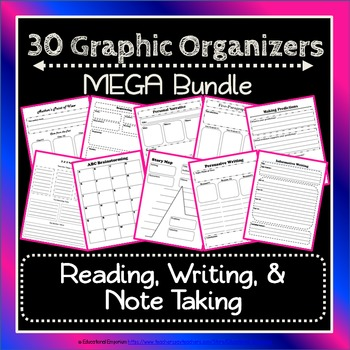 Graphic Organizers Bundle for Common Core (Notes, Reading,