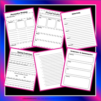 Graphic Organizers Bundle for Common Core (Notes, Reading, Writing, & More)