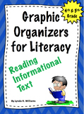 Graphic Organizers CCSS Reading Informational Text 4th and 5th Grade