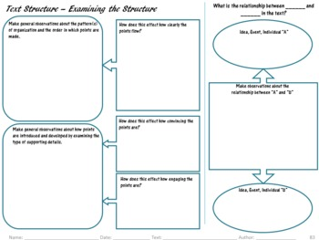 Graphic Organizers for Common Core Reading Standards (11-12): Informational Text