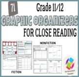 Grade 11/12 Graphic Organizers for Common Core Reading: Fi
