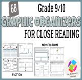 Grade 9/10 Graphic Organizers for Common Core Close Readin