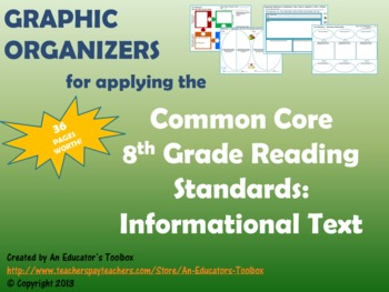 Graphic Organizers for Common Core Reading Standards (Gr. 8): Informational Text