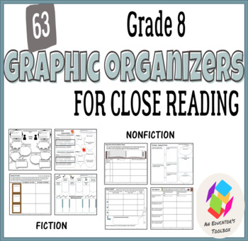 Graphic Organizers for Common Core Reading Standards (Gr.8): Lit & Informational