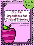 Graphic Organizers for Critical Thinking- Sample Pack