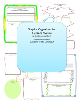 Graphic Organizers for Elijah of Buxton