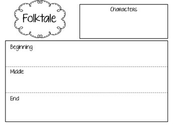 Graphic Organizers for Fairy Tales, Myths, Legends, Fables, and Folktales