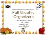 Graphic Organizers for Fall (apples, pumpkins, spiders, ba