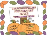Graphic Organizers for Fiction Literature Fall Thanksgiving Theme CCSS