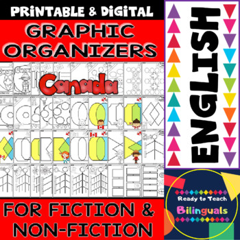 Graphic Organizers for Fiction and Non-Fiction - Canada Themed