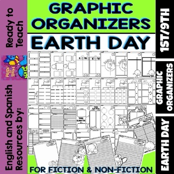Graphic Organizers for Fiction and Non-Fiction -  Earth Day Themed