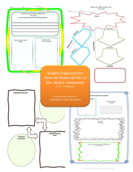 Graphic Organizers for From the Mixed-Up Files of Mrs. Basil E. Frankweiler