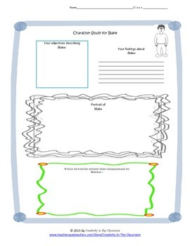 Graphic Organizers for Full Tilt