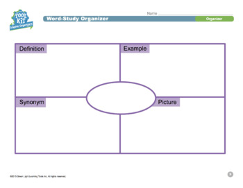Graphic Organizers for Grades 3–5: Word Study Organizer