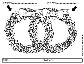 Graphic Organizers for Informational Reading  Christmas and Winter Theme