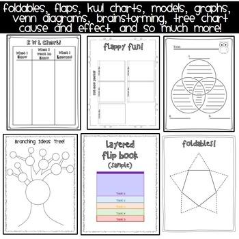 Graphic Organizer Interactive Notebook BUNDLE