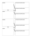 Graphic Organizers for Justifying Answers