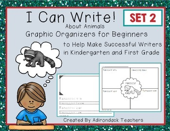 Graphic Organizers for Kindergarten and 1st Grade Writers I Can Write! SET 2
