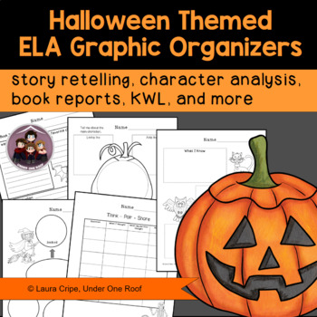 Graphic Organizers for Language Arts: Halloween Themed