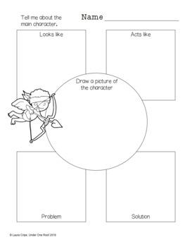 Graphic Organizers for Language Arts: Valentine's Day Theme