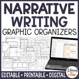 Narrative Writing Graphic Organizers (Printable & Digital)