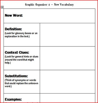 Graphic Organizers for Non-Fiction Texts