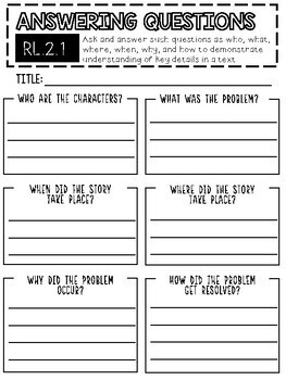 Graphic Organizers for Non-fiction / Fiction Text