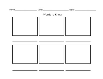 Graphic Organizers for Nonfiction