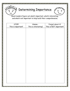 Graphic Organizers for Nonfiction Texts