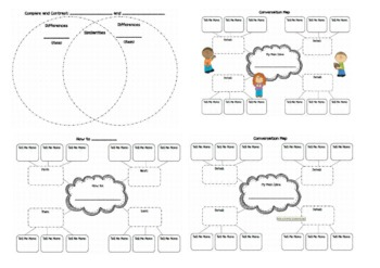 Graphic Organizers for Oral and Written Language!