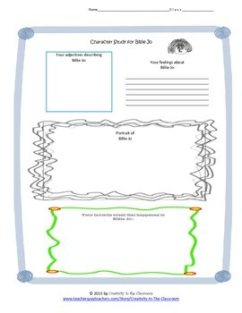 Graphic Organizers for Out of the Dust