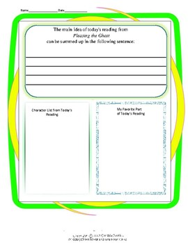Graphic Organizers for Pleasing the Ghost